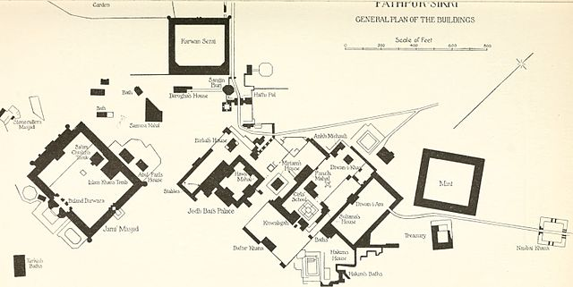 General_plan_of_buildings_Fatehpur_Sikri_1917
